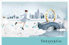 Whimsical Holiday Ads - The Latest Tiffany Christmas Campaign Celebrates the Festive Season