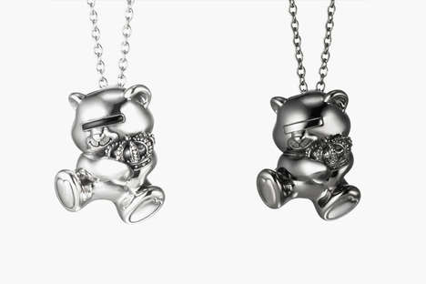 Futuristic Teddy Pendants