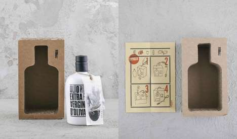 Multipurpose Oil Packaging - This Oil Bottle Packaging Transforms into a Light Fixture