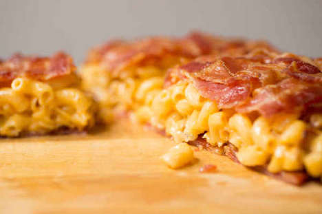 Bacon-Weaved Macaroni Quesadillas