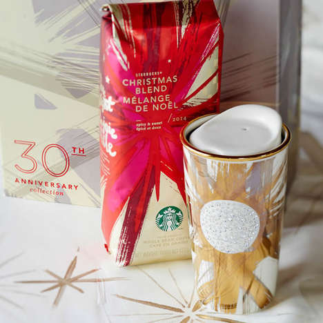 Opulent Coffee Tumblers - These Starbucks 30th Anniversary Items Add Luxury to the Holidays