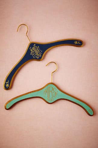 Monogrammed Matrimony Hangers