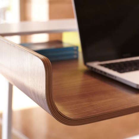 Converted Half Pipe Desks - This Desktop Table is Inspired by a Skateboard Ramp