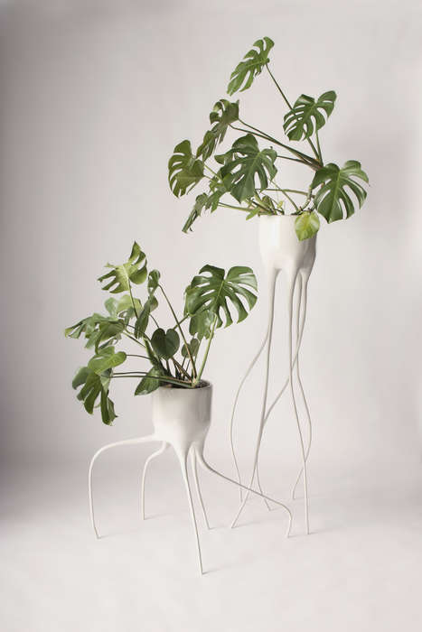Terrestrial-Like Planters - The Monstera Pots Feature a Sleek yet Organic Design