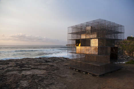 Intricate Reflective Structures - 'House of Mirrors' by NEON Sits on the Shore of Bondi Beach