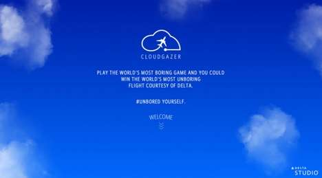 Virtual Cloudgazing Contests - Delta Wants You to Stare at the Clouds Online to Win a Trip Ticket