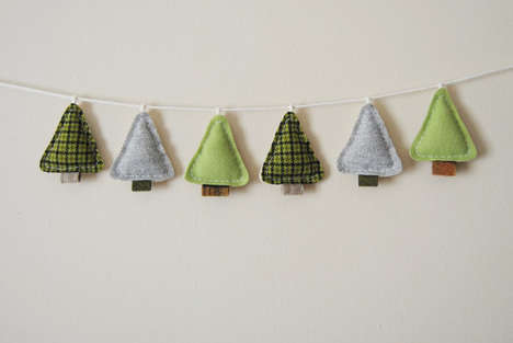 Festive Felt Garlands - Etsy's What No Mints Shop Sells Handmade Wall Art Decor