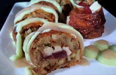 Thanksgiving Sushi Rolls - This Untraditional Sushi Recipe is Filled with Thanksgiving Foods
