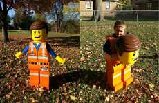 Lifesized LEGO Costumes - This Emmet LEGO Figure Costume Mimics the Miniature Toy