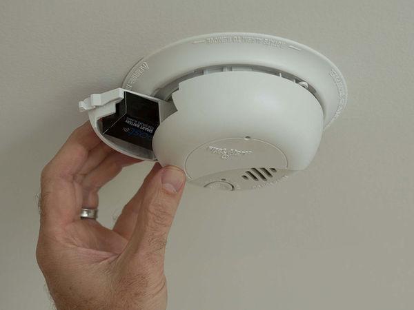 door opener smoke and heat detector