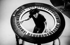 Spherical Pianos - The PianoArc is a Staggering Six Feet in Diameter for Pure Pianist Bliss