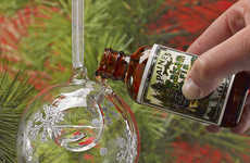 Scented Christmas Ornaments - The Snowflake Bubble Aromatherapy Ornament Can Be Easily Customized