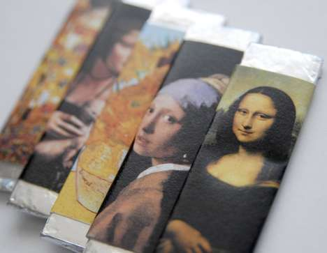 Fine Arts Gum Packaging - Anna GC's Chewing Art Project Offers an Art History Lesson in Every Chew