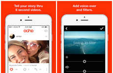 Social Video-Editing Apps - Mobile Video App Ocho Lets You Record and Upload 8 Second Videos