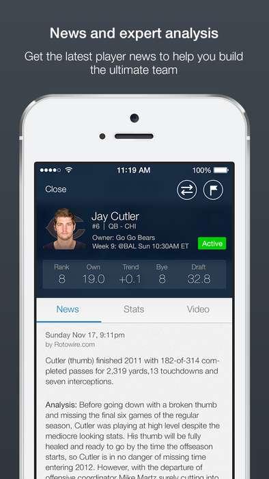 Flexible Fantasy Football Apps