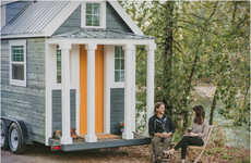 Rustic Trailer Residences - Heirloom's Mini Mobile Cabin is a Hipster's Dream Home