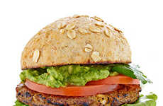 Meatless Mediterranean Burgers - MorningStar's Cilantro-Avocado Recipe Features a Chickpea Burger