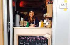 Temporary Vegan Bakeries - The Raw-Vegan Pixie Pop-Up Bakery Operates Out of a Doorway