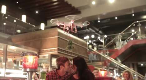 Christmas Kissing Drones