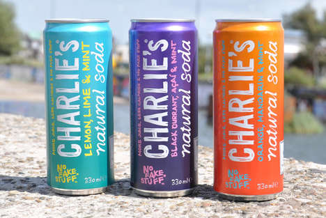 Hip Natural Sodas - Charlie's Natural Soda Drinks Are Low-Calorie and Free of 'Fake Stuff'