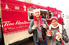 Cozy Holiday Trucks - A Sweater-Clad Truck Promotes Tim Hortons' Holiday Cups