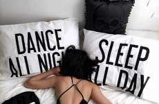 Party-Inducing Linens - The 'Dance All Night Pillow Case' Channels Your Inner Social Butterfly