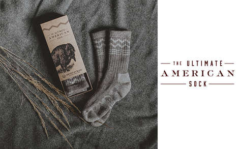 Bison Wool Socks - The Ultimate American Sock Uses Soft & Durable Bison Down