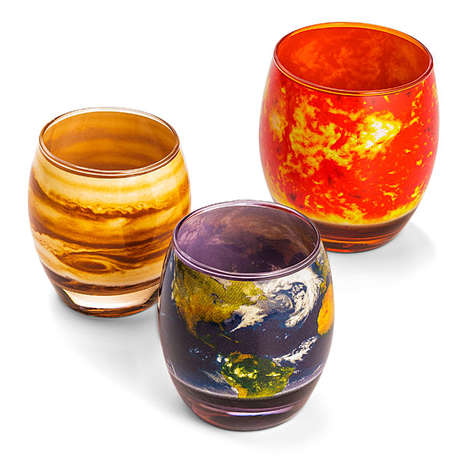 Planetary Glass Sets - These Solar System Cups are Functional and Educational