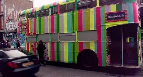 Yarn-Bombed Buses