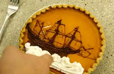 Laser-Etched Pies - This Delicious Dessert Has Been Customized with a Rendering of the Mayflower