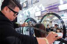 Samurai Sword Haircuts - This Salon in Vietnam Lets You Get a Haircut with a Samurai Sword
