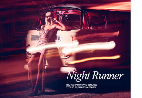 Glam Nighttime Editorials