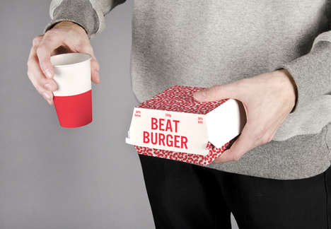 Beet Burger Boxes - This Vegetarian Burger Box Design Cleverly Promotes a Plant-Based Burger