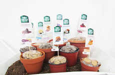 Potted Cookie Displays - This Unique Cookie Packaging and Display Promotes Earthy Vegan Treats