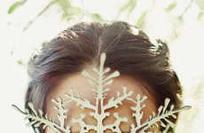 Theatrical Holiday Accessories - This Leather Snowflake Mask is Perfect for Costumed Holiday Parties