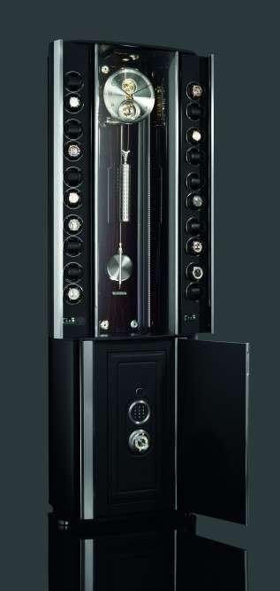 Opulent Clock-Embedded Safes