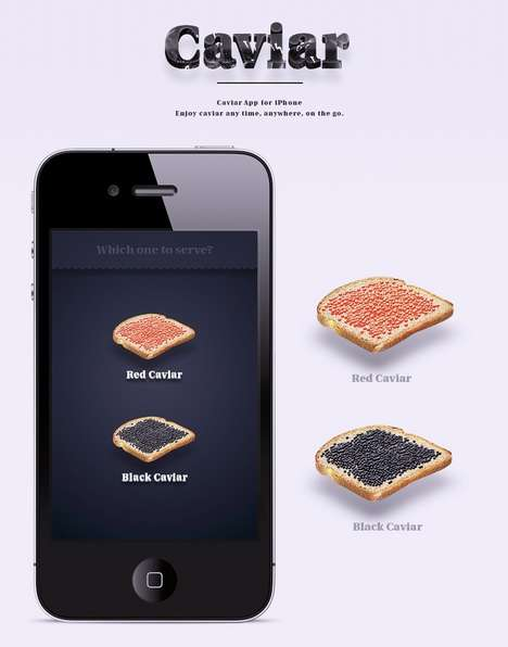 Virtual Caviar Apps - Anton Repponen's Mobile App Creates a Faux Gourmet Experience