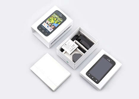 Senior Smartphone Packaging - Doro's Phone Package Was Designed with the Elderly in Mind