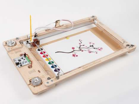 Digital Water Color Printers - The WaterColorBot Painting Robot Replicates Art in Water Color