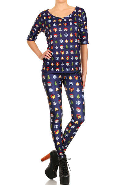 Christmas Emoji Leggings