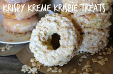 Confectionary Cereal Donuts - This Epic Rice Krispie Recipe Incorporates Krispy Kreme Glazed Donuts