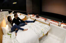 Comfort-Focused Cinemas - IKEA's Movie in Bed Event Replaced the Traditional Seats with Big Beds