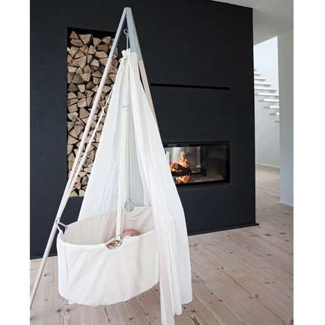 Floating Tipi Cribs - The Leander Crib Mixes Fairytale Elements Into Your Child