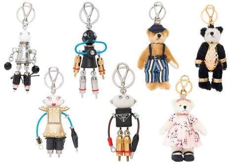 Robotic Bear Key Chains - The Prada Robot Collection Captures the Fun Side of the Italian House