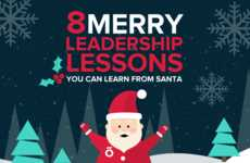 Christmassy Leadership Tips - Officevibe's Santa Themed Leadership Lessons are in Infographic Form