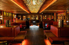 Gilded Nightclub Installations - Mayfair's Whisky Mist Nightclub Boasts a Piper-Heidsieck Sculpture
