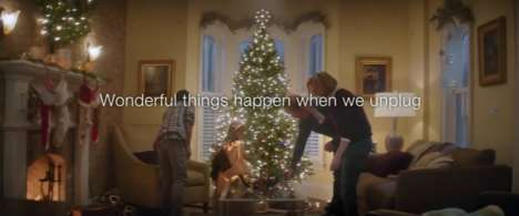 Festive Anti-Tech Ads - Telus' Phone Commercial Urges People to Unplug This Holiday Season