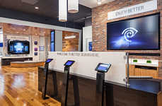 Homey Tech Stores - The Time Warner Cable New York Flagship Store is Warm and Modern