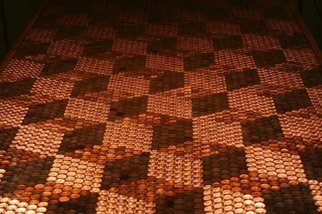 Patterned Penny-Topped Tables