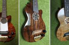 Eclectic Electric Ukuleles - The 'Ukelation' Line Comprises Ukuleles With Amplified Sound